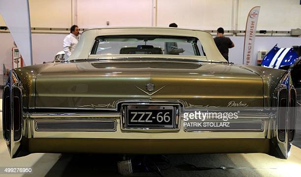 An historical Cadillac Eldorado car is on display at the Essen Motor Show on November 30 2015 at the fair grounds in Essen western Germany The motor...