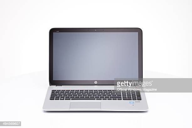 An HP Envy Touchsmart 15J004EA PC laptop photographed on a white background taken on August 29 2013