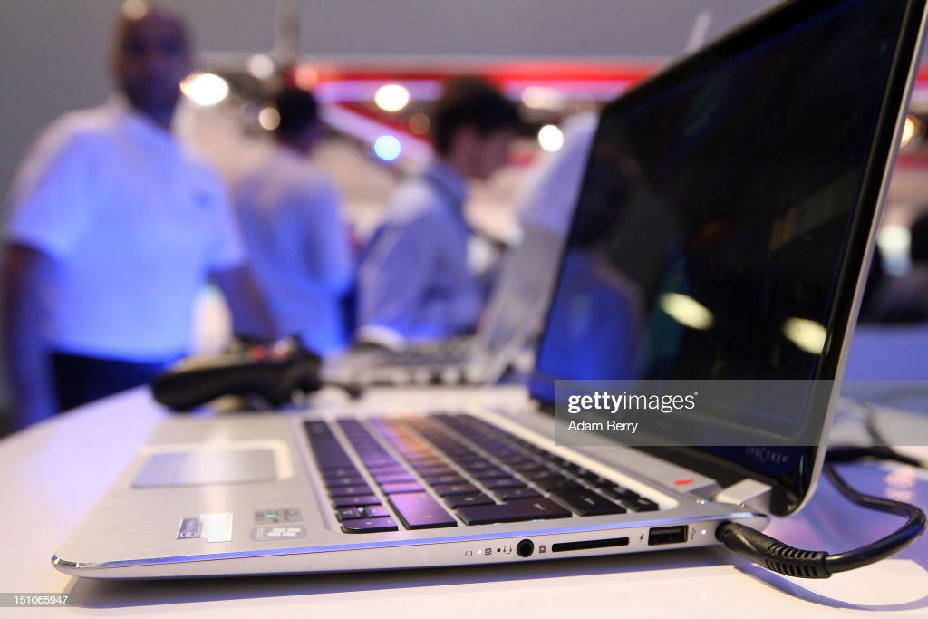 An HP Spectre XT laptop computer featuring an Intel Ultrabook processor is displayed during the Internationale Funkausstellung (IFA) 2012 consumer electronics trade fair on August 31, 2012 in Berlin, Germany. Microsoft, Samsung, Sony, Panasonic and Philips are amongst many of the brands showcasing their latest consumer electronics hardware, software and gadgets to members of the public from August 31 to September 5.