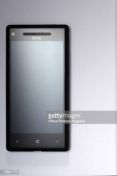 An HTC 8X smartphone photographed during a studio shoot for Official Windows Magazine January 21 2013
