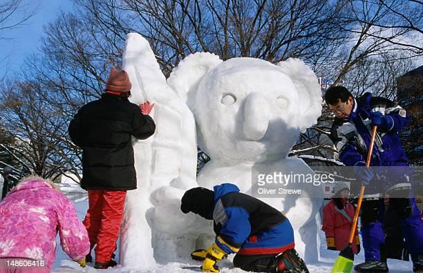 An ice carving for the Sapporo Yuki Matsuri (snow festival), Sapporo