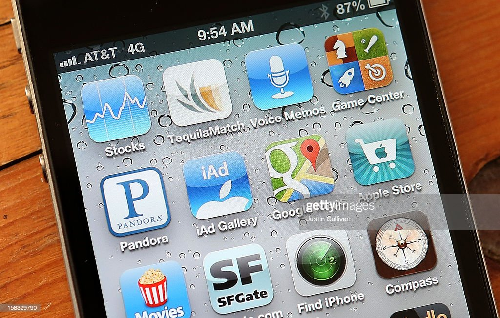 An icon for the Google Maps app is seen on an Apple iPhone 4S on December 13 2012 in Fairfax California Three months after Apple removed the popular...