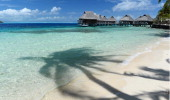 An idyllic island scene on September 30 2013 in Bora Bora French Polynesia