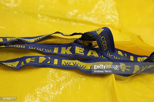 An Ikea shopping bag is pictured during a store opening at the 4th Ikea chain store in Berlin Lichtenberg on December 13 2010 in Berlin Germany Ikea...
