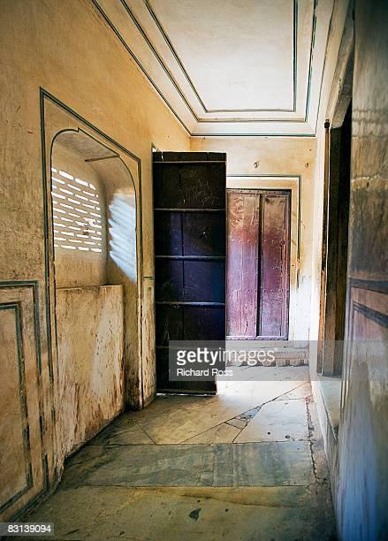 an illuminated passageway