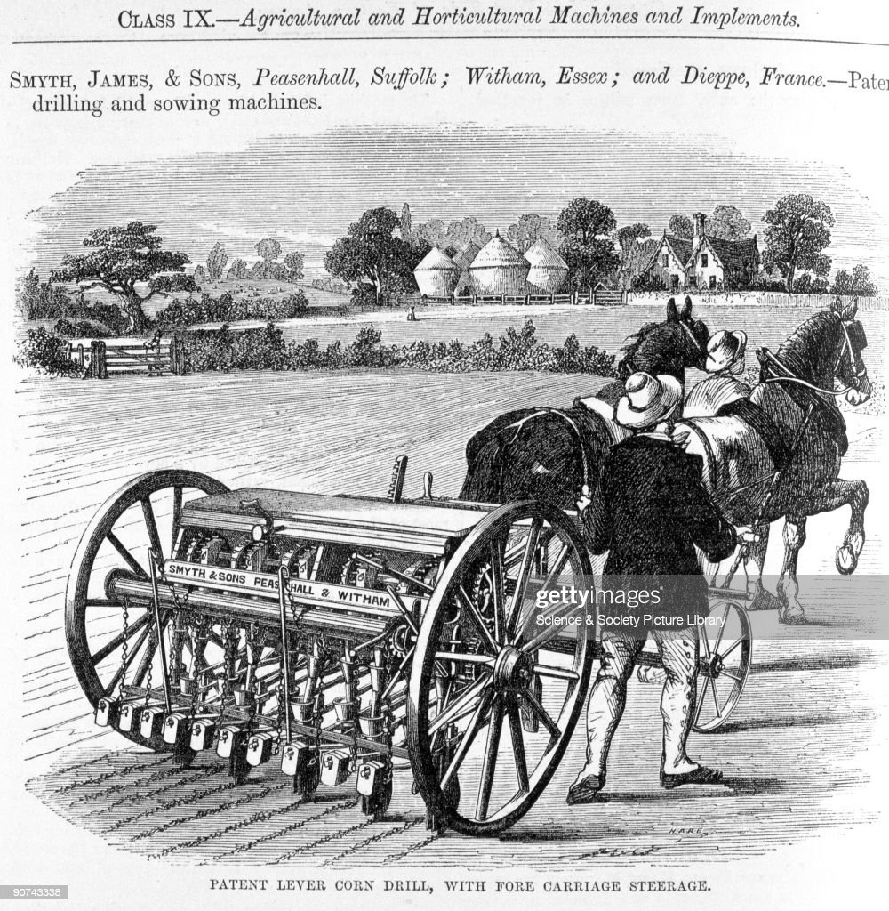 An illustrated plate from the trade catalogue of the 1862 Great Exhibition in London advertising agricultural machines Shown here is one of James...