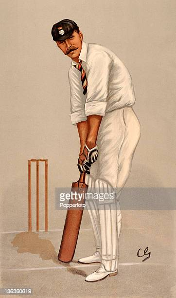 An illustration featuring the Hampshire and England cricketer Edward Wynyard dated 1898 The artist was Sir Francis Carruthers Gould who was also...