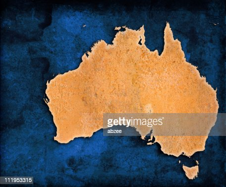 An illustration of the map of Australia