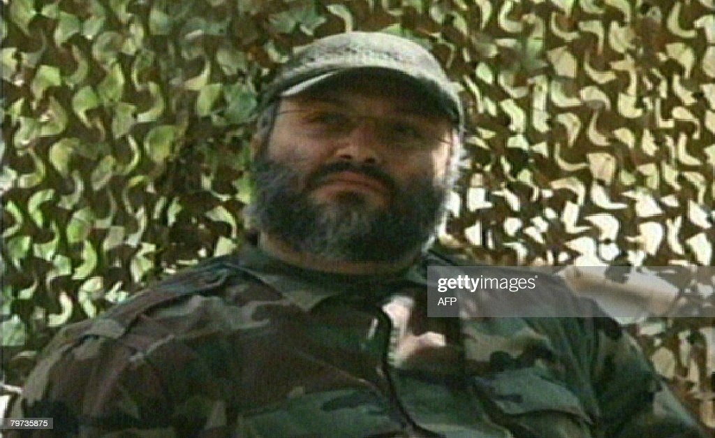 An image grab taken from the Hezbollahrun Manar TV February 13 2008 shows an undated photo of top Hezbollah commander Imad Mughnieh at an...