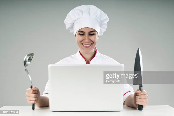 An image of a chef prepared for a cooking series