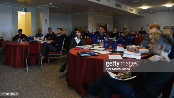 An image of atmosphere during the Italian Football Federation SGS Meeting at the Ata Hotel on November 12 2017 in Milan Italy