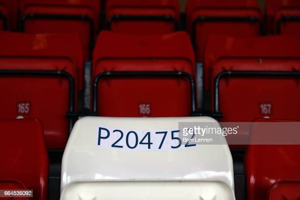 An image of PC Keith Palmer's seat prior to the Sky Bet League One match between Charlton Athletic and Milton Keynes Dons at The Valley on April 4...