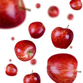 An image of raining red apples