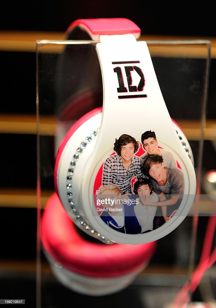 An image of the band, One Direction, covers a pair of headphones at the Jazwares booth at the 2013 International CES at the Las Vegas Convention Center on January 9, 2013 in Las Vegas, Nevada. CES, the world's largest annual consumer technology trade show, runs through January 11 and is expected to feature 3,100 exhibitors showing off their latest products and services to about 150,000 attendees.