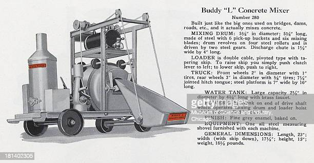 An image of the Buddy 'L' Concrete Mixer Model 280 late 1920s or early 1930s It originally appeared in 'The Complete Buddy 'L' Line' catalog...