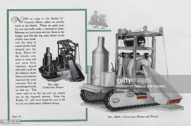 An image of the Buddy 'L' Concrete Mixer on Tread 1929 It originally appeared in the 'Happy Days With Buddy 'L' Toys' catalog published by the Moline...