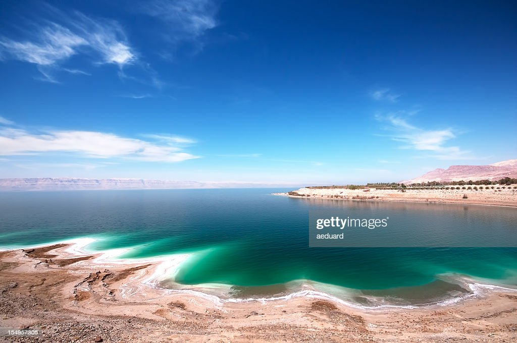 An image of the Dead Sea on a clear day
