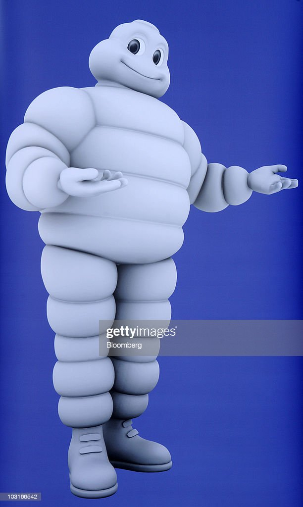 An image of the Michelin & Cie. 'Michelin Man' character is seen ...