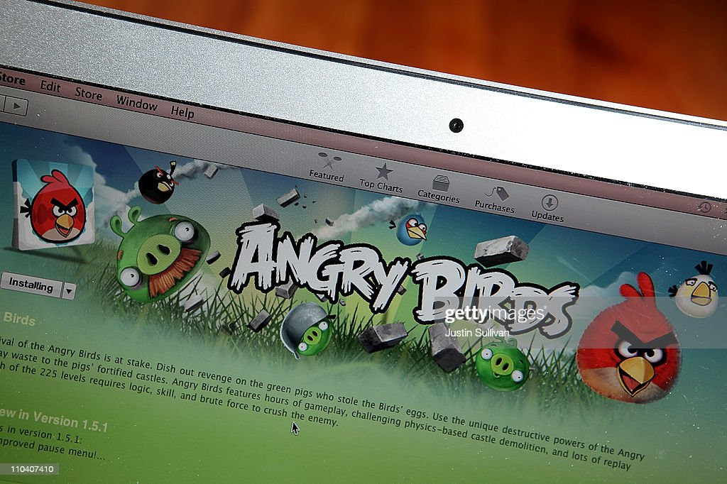 An image of the popular video game 'Angry Birds' is displayed on a laptop on March 18, 2011 in San Anselmo, California. The 'Angry Birds' mobile device video game developer Rovio is begnning the process of seeking an initial public offering (IPO).