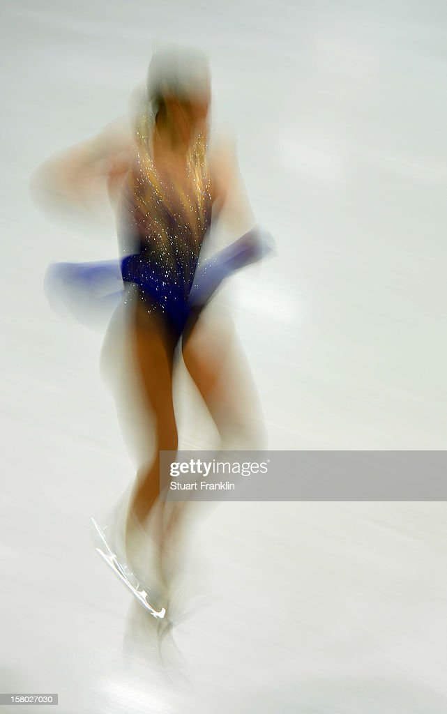 An impression of a dancer in action during the senior ladies freestyle section of the NRW trophy at Eissportzentrum on December 9, 2012 in Dortmund, Germany.