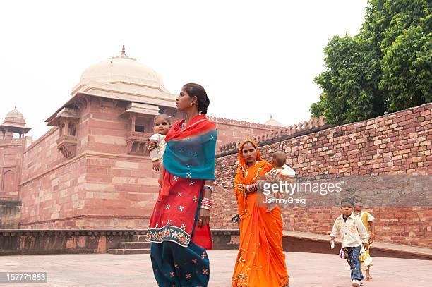 An Indian family explore Fatehpur Sikri