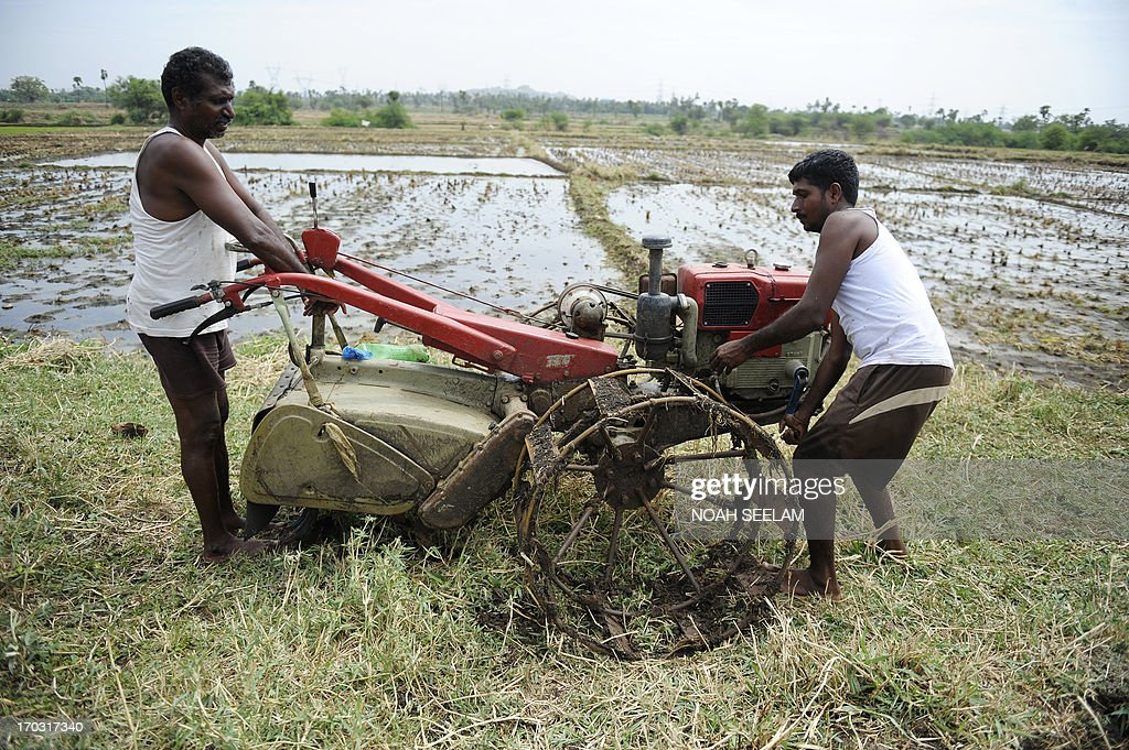 An Indian farmer prepares to plough a field as part of preparations for paddy crop planting on the outskirts of Hyderabad on June 11, 2013. India's monsoon rains are the main source of irrigation for the nation's 235 million farmers who depend on the timing of the monsoon in order to decide which crops to grow.The farm sector accounts for about 15 percent of a nearly USD 2-trillion economy, Asia's third-biggest.AFP PHOTO/ Noah SEELAM