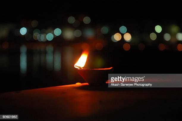 An Indian Festival - An Indian Lamp on Diwali