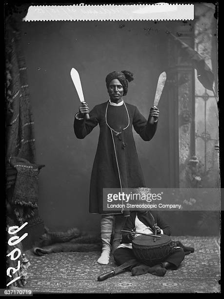 An Indian juggler with a drummer boy 31st October 1885