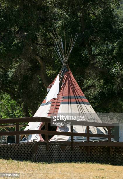 An Indian teepee near the entrance to Rancho Oso Resort in Santa Barbara County's backcountry is viewed on May 13 near Santa Ynez California Located...