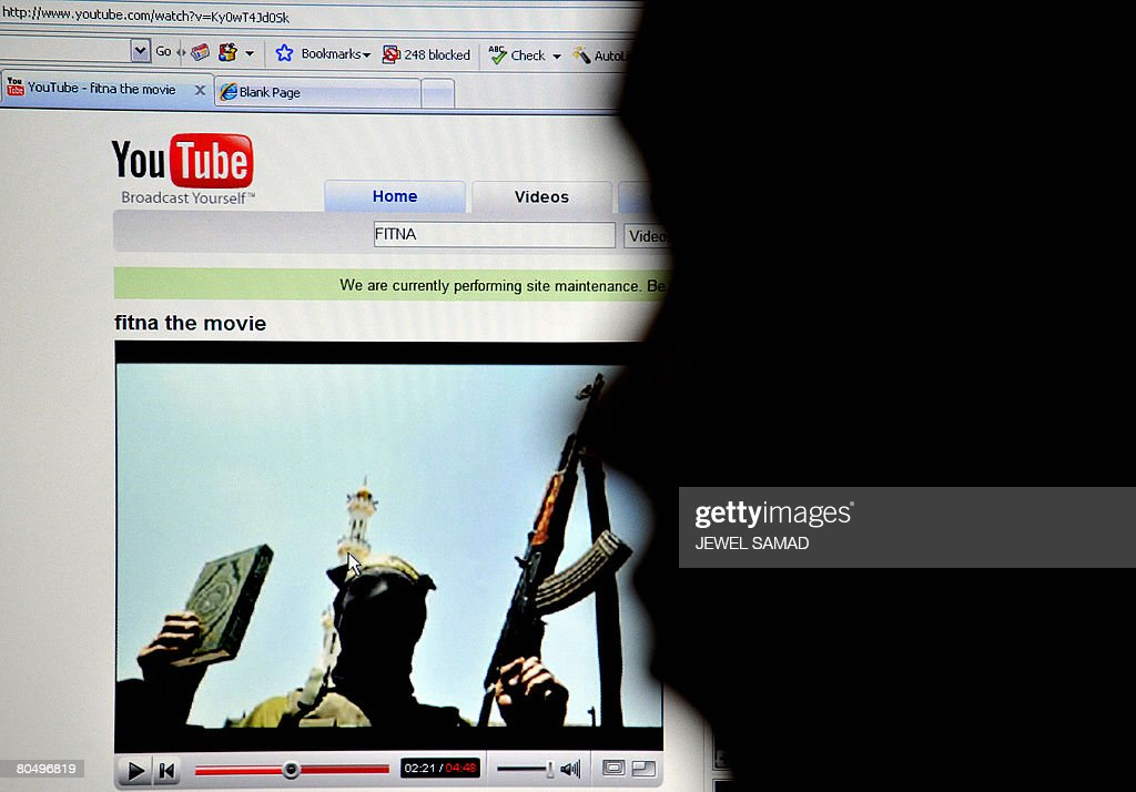 An Indonesian man watches the anti-Islam film Fitna at the YouTube website using his office computer, in Jakarta on April 3, 2008. Indonesia will start blocking YouTube at the end of this week if an anti-Islamic film that has sparked protests here is not removed from the file-sharing site, the government said on April 3. AFP PHOTO/Jewel SAMAD