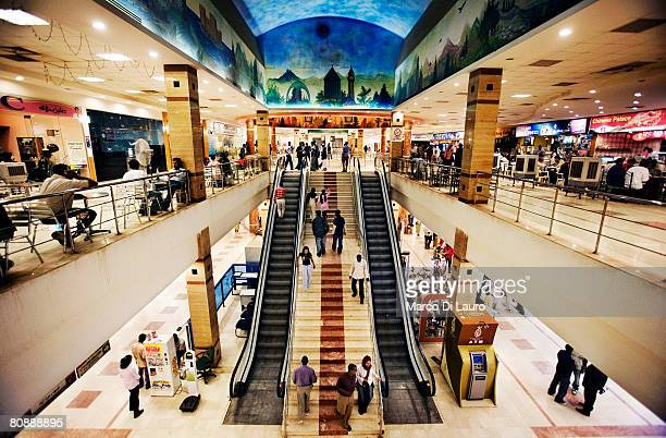 An indoor general view of the Turkish/Sudanese owned Afra shopping mall on January 11 2007 in Khartoum Sudan Afra Mall is the first shopping mall in...