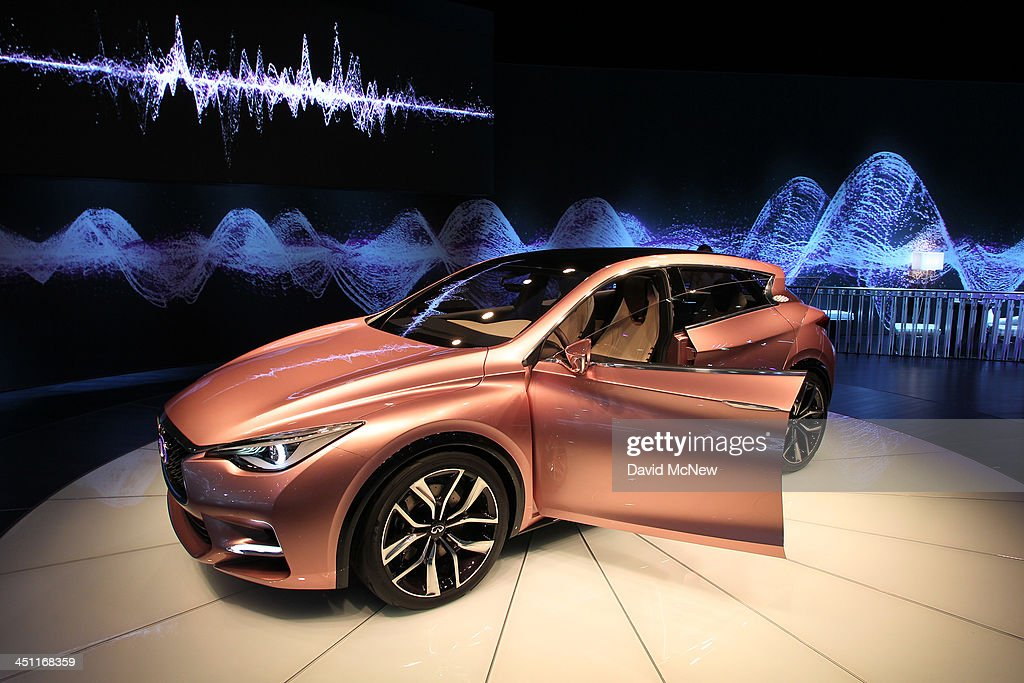 An Infinity Q30 concept is displayed during media preview days at the 2013 Los Angeles Auto Show on November 20, 2013 in Los Angeles, California. The LA Auto Show was founded in 1907 and is one of the largest with more than 20 world debuts expected. The show will be open to the public November 22 through December 1.