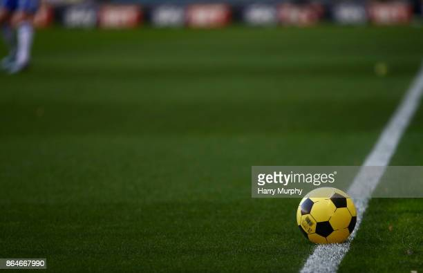 An inflatable ball is seen during the Sky Bet Championship match between Millwall and Birmingham City at The Den on October 21 2017 in London England