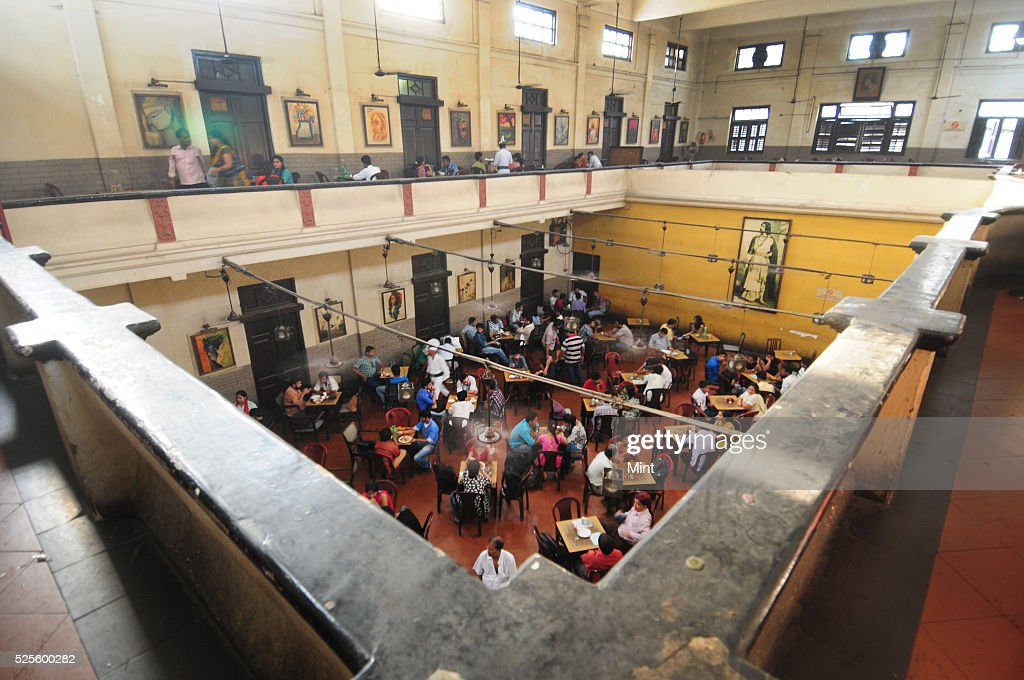 An inside view of Indian coffee house at college street on May 28, 2015 in Kolkata, India.