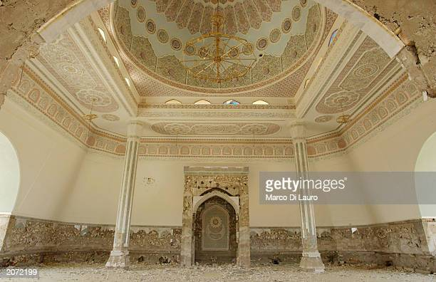 An inside view of the mosque of Saddamiat al Tharthar resort city built for Saddam Hussein's regime VIPs is seen at Lake Tharthar in Saddam's home...
