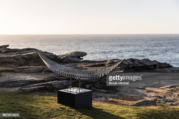 An installation as part of Sculpture By The Sea at Tammaramma on October 19 2017 in Sydney Australia