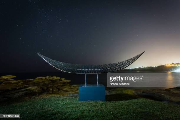 An installation as part of the annual Sculptures By The Sea is pictured before dawn at Tammaramma on October 19 2017 in Sydney Australia