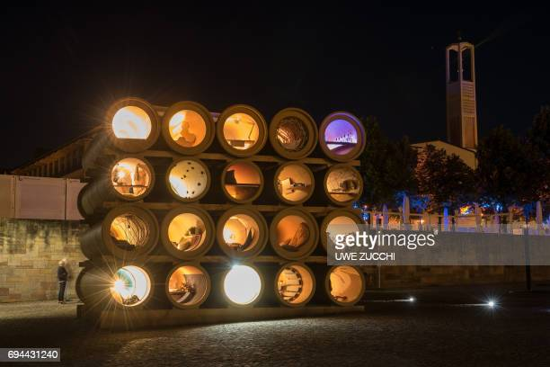 An installation created by IraqiKurdish artist Hiwa K is pictured at the Documenta 14 art exhibition in Kassel central Germany on June 9 2017...