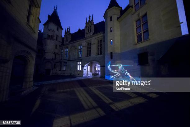 An installation during the White Night 2017 in Paris on october 7 2017 Each first Saturday in October this event invites to see the city in a...
