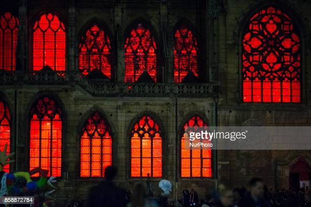 An installation in the SaintMerri church during the White Night 2017 in Paris on october 7 2017 Each first Saturday in October this event invites to...