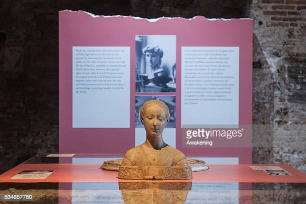 An installation is seen at the 'A World of Fragile Parts' Pavillion of the 15th Architecture Venice Biennale on May 27 2016 in Venice Italy The 15th...