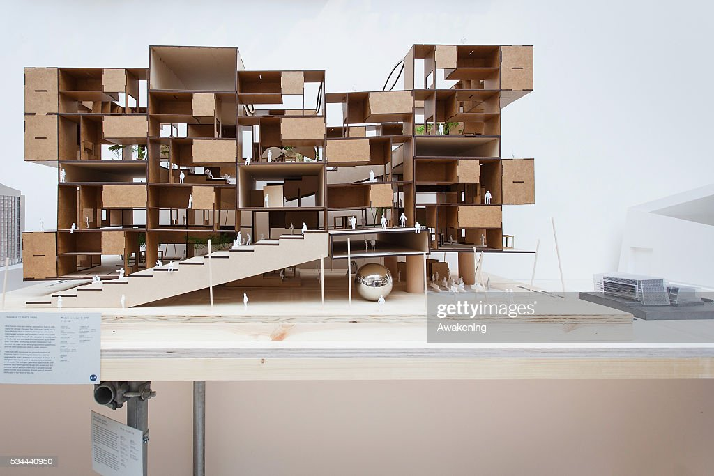 An installation is seen in the Denmark Pavillion of the 15th Architecture Venice Biennale, on May 26, 2016 in Venice, Italy. The 15th International Architecture Exhibition of La Biennale di Venezia will be open to the public from May 28 to November 27 in Venice, Italy.