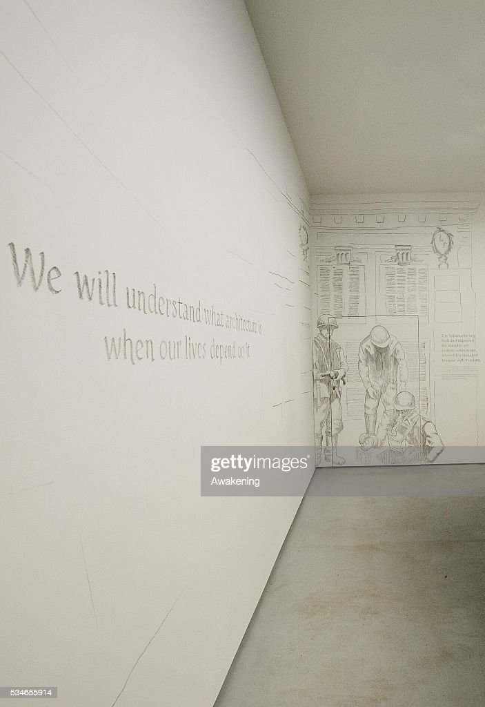 An installation is seen in the Hungary Pavillion of the 15th Architecture Venice Biennale, on May 27, 2016 in Venice, Italy. The 15th International Architecture Exhibition of La Biennale di Venezia will be open to the public from May 28 to November 27 in Venice, Italy.