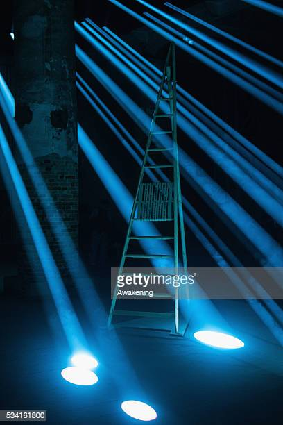 An installation of the Reporting from the Front pavillon of the 15th Architecture Venice Biennale on May 25 2016 in Venice Italy The 15th...