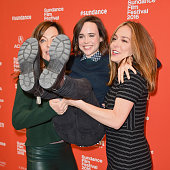 An instant view of actors Allison Janney Ellen Page and writer/director Sian Heder attend the 'Tallulah' Premiere during the 2016 Sundance Film...