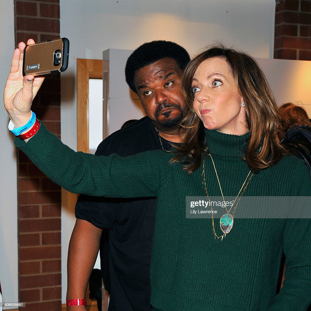 An instant view of Craig Robinson and Allison Janney attends Kari Feinstein's Style Lounge on January 23 2016 in Park City Utah