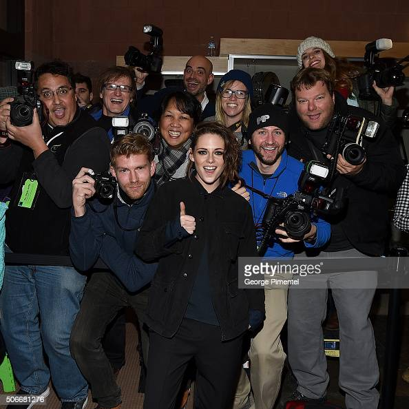 An instant view of Kristen Stewart as she poses with photographers at the 'Certain Women' Premiere during the 2016 Sundance Film Festival at Eccles...