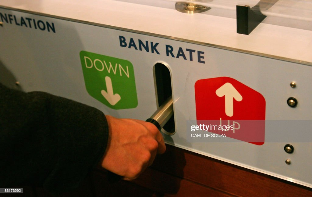 An interactive feature designed for eductaional purposes which challenges the user to control inflation by lowering or raising a lever is pictured at...
