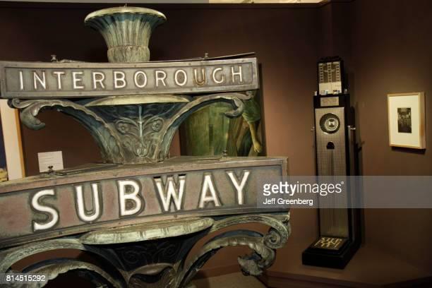An Interborough Subway sign on display in the Florida International University