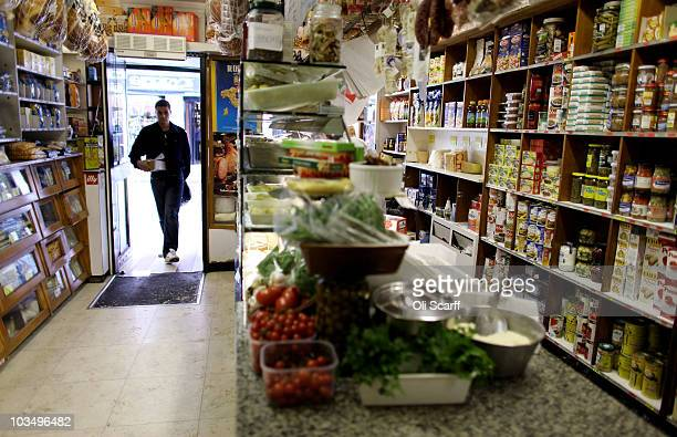An interior view of the 'Camisa' deli in the Soho area of the City of Westminster on August 19 2010 in London England Soho is approximately one...